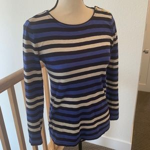 Striped J. Crew long sleeve cotton top